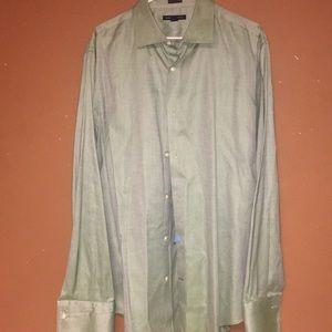 Banana Republic Green Cotton Button Down Shirt 17